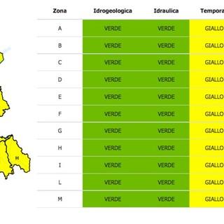 Sabato di allerta gialla per forti temporali su tutto il Piemonte