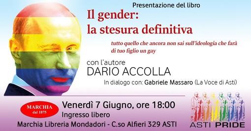 """""""Il gender: la stesura definitiva"""". Incontro con Dario Accolla alle 18 nell'ambito delle iniziative per l'Asti Pride"""