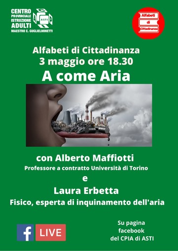 """Il 3 maggio il Cpia tornerà a parlare di ecologia, con la diretta """"A come Aria"""""""