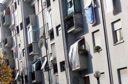 Facciata di un alloggio di edilizia popolare