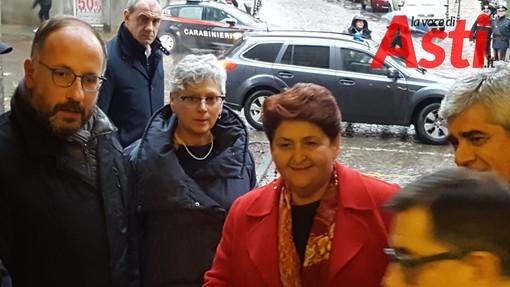 Teresa Bellanova durante una precedente visita ad Asti