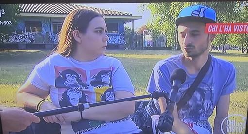 Chiara Marino con il fidanzato