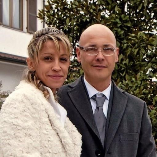 Cinzia e Manuel Bacco il giorno del matrimonio