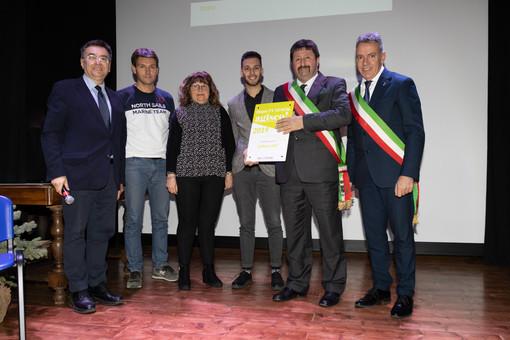 La squadra del Comune di Calliano con Roberto Cerrato e il sindaco di Fubine