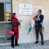 L'inaugurazione con il sindaco e Polina Bosca