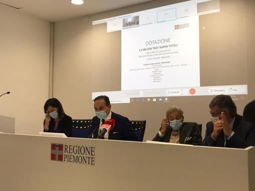 """Tamponi rapidi, in Piemonte 2,4 milioni di test: """"Testeremo Rsa, ospedali, scuole e privati"""" (VIDEO)"""