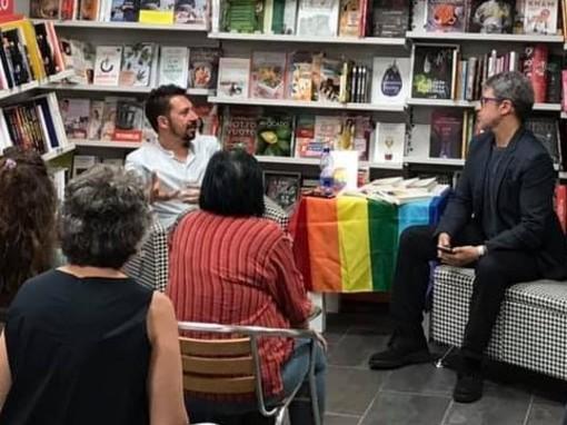 Dario Accolla con il nostro Gabriele Massaro, durante la presentazione libro dello scorso anno