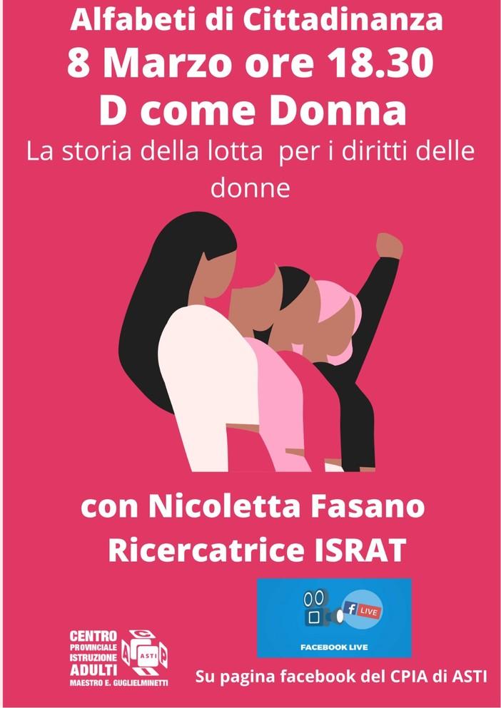 Israt e Cpia insieme per celebrare l'8 marzo con 'D come donna'