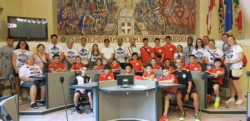 Delegazione brasiliana ospite degli Orange Futsal Asti ricevuta in Comune