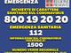 Coronavirus: boom di accessi al nuovo numero verde sanitario 800192020 che soccorre i numeri di emergenza