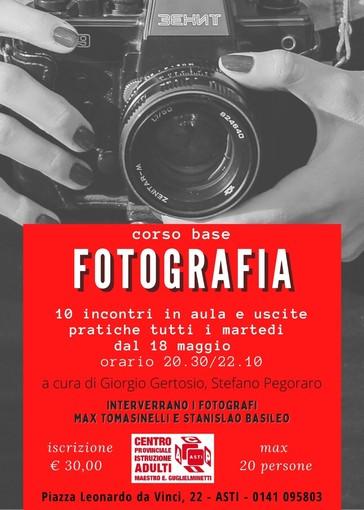 Al Cpia di Asti in arrivo un corso di fotografia, con le lezioni di Giorgio Gertosio