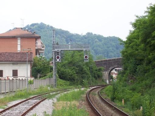 Un tratto della linea Asti-Chivasso