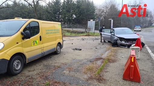 Incidente stradale tra via Al Duca e strada Valmanera, sul posto la Polizia locale