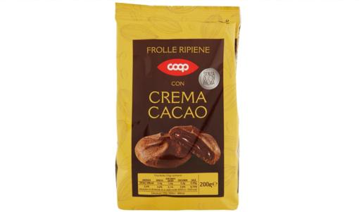 Coop ha richiamato alcuni lotti di proprie frolle ripiene con crema al cacao