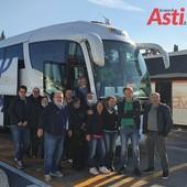 Uno dei gruppi Cisl Alessandria Asti con Stefano Calella e  il segretario generale Marco Ciani