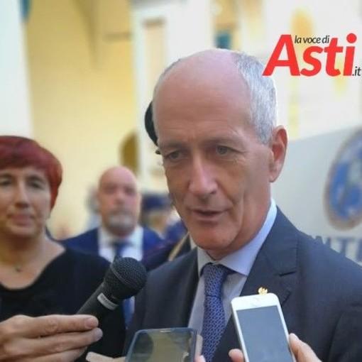 Gabrielli durante la visita dello scorso anno ad Asti