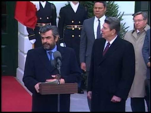 Giovanni Goria con Reagan nel 1987