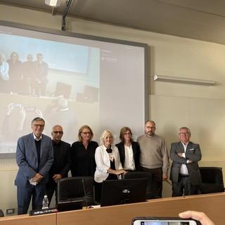 Foto di gruppo per i relatori della presentazione del master di I livello in Assistenza Infermieristica di Famiglia e di Comunità