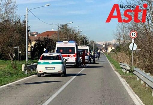 Incidente frontale sul rettilineo tra Sessant e Serravalle