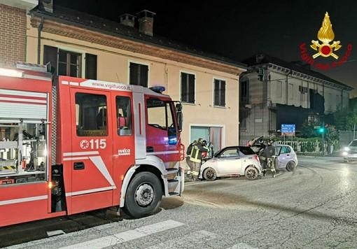 Incidente a Baldichieri d'Asti, urto tra due auto, 3 i feriti