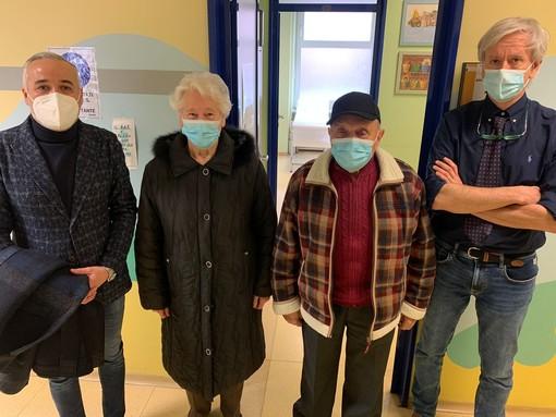 Ad Asti i primi vaccinati over 80 con il vicepresidente Carosso e il direttore saniario Mauro Occhi
