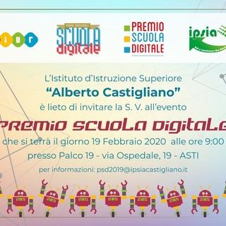 Al Palco 19 di Asti il Premio Scuola Digitale, seconda edizione, mercoledì 19 febbraio alle 9