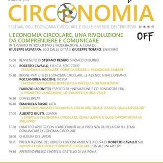 """Venerdì Bubbio ospiterà l'ultimo appuntamento della sesta edizione di """"Circonomia"""""""