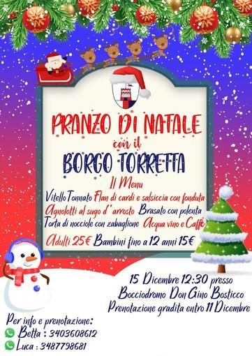 Il Borgo Torretta invita tutti i suoi sostenitori al pranzo di Natale, domenica 15 dicembre