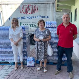 acqua Lauretana alla mensa di Asti