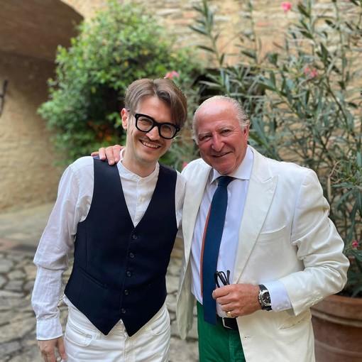 Matteo Curallo con Alberto Morillas (Foto Facebook)