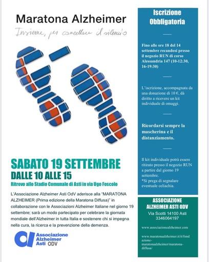 Una maratona per sostenere i diritti delle persone con demenza con l'associazione Alzheimer di Asti