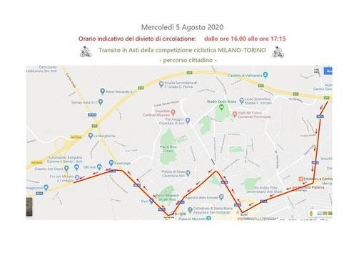Oggi la Milano - Torino passa nell'Astigiano, attenzione alle chiusure strade