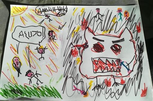 """Anche un """"mostro mangiacovid"""" alla festa di fine anno scolastico a Casale"""