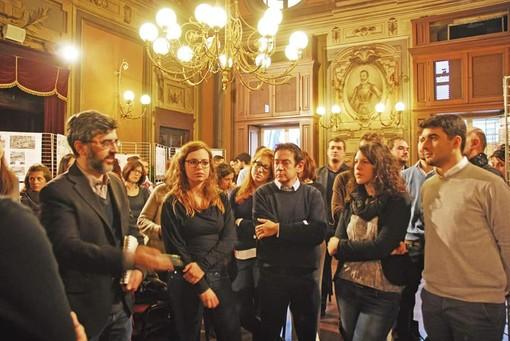 """Alessandro Melis durante l'evento """"Architetture sottili"""" nel 2015"""