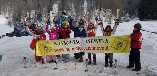 Sci, pioggia di medaglie per il racing team 'Nonsolosci' di Asti al Grand Prix Neve 2021