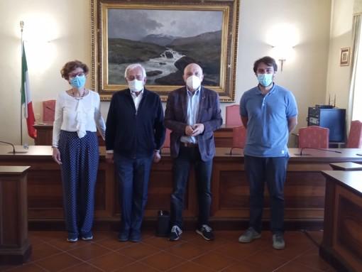 L'assessore Quaglia e il sindaco Nosenzo con Bielli e Masoero del Lions