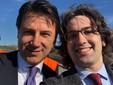 Romano ritratto con il premier Conte quando quest'ultimo ha visitato il cantiere dell'Asti-Cuneo