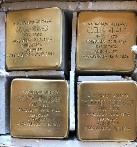 Quattro pietre di Inciampo a Moncalvo per la Giornata della Memoria