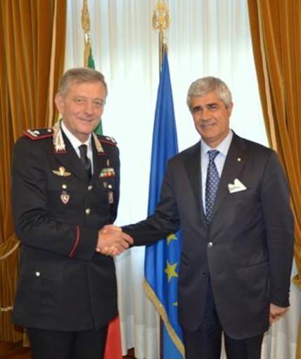 Il Comandante della Legione Carabinieri Piemonte e Valle d'Aosta, Aldo Iacobelli ha incontrato il Prefetto di Asti
