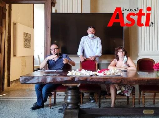 Enrico Alessandro Cavallero (sindaco di Costigliole d'Asti), Alessandro Borio (assessore all'Agricoltura) e Tanya Arconi (vicesindaco)