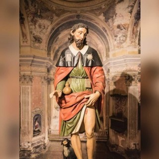 San Rocco rappresentato da Bartolomeno Enaten per la chiesa astigiana a lui dedicata