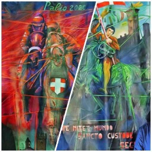 I Palii 2020 dipinti da Ottavio Coffano