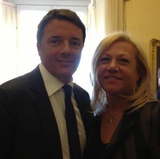 Angela Motta con Matteo Renzi