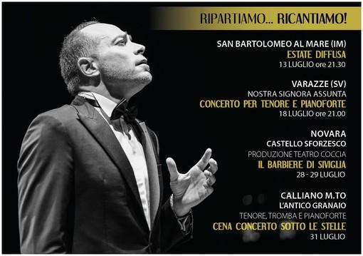 """Anche Calliano coinvolto nel progetto """"Ripartiamo... Ricantiamo!"""" del tenore astigiano Enrico Iviglia"""