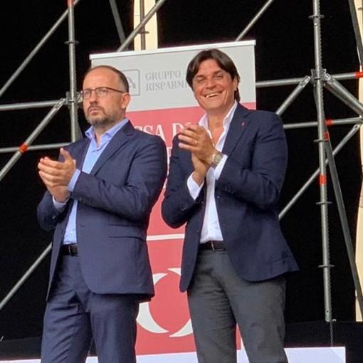 Il sindaco Rasero e l'assessore Bovino