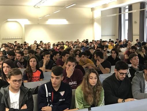 230 ragazzi matricole di Scienze Motorie hanno inaugurato l'anno accademico
