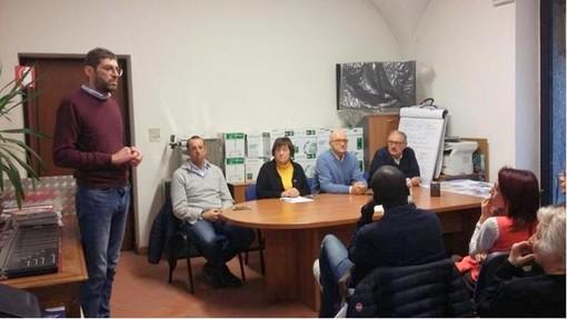 Nella foto da sx Carlo Picchio, Roberto Giolito, Mariangela Cotto, Piero Baldovino e Piero Barbesino