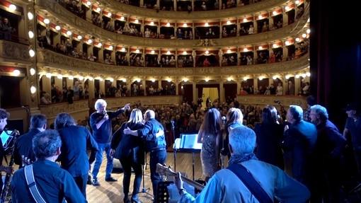 La Cerot band durante un concerto al teatro Alfieri (Foto Facebook)