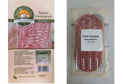 Il 'Salame Campagnolo' di Penny Market richiamato per sospetta contaminazione da salmonella.