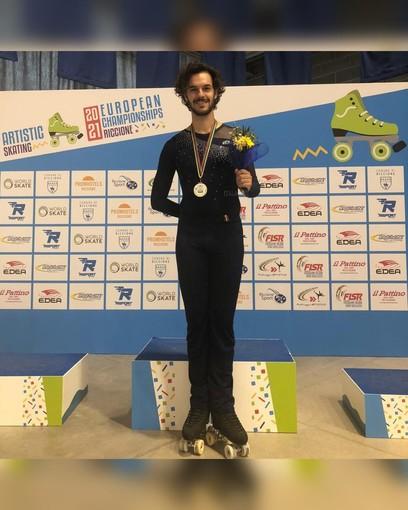 Pattinaggio: Federico Trento della Blue Roller, protagonista agli Europei assoluti di Riccione con il bronzo